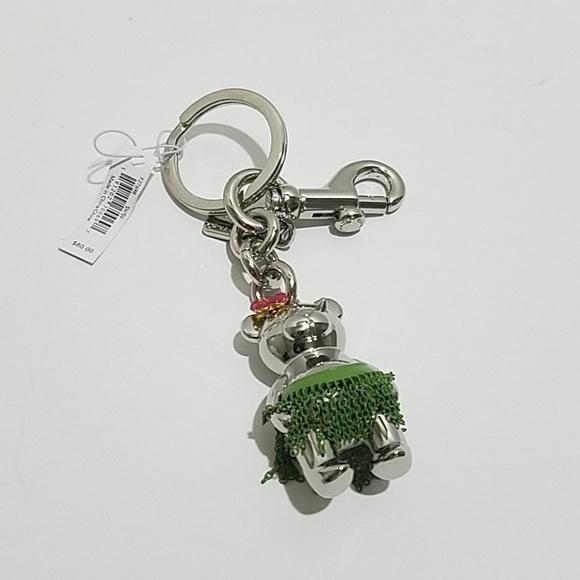 Coach Hula 3DTeddy Bear key chain fob 5d5e1eea5